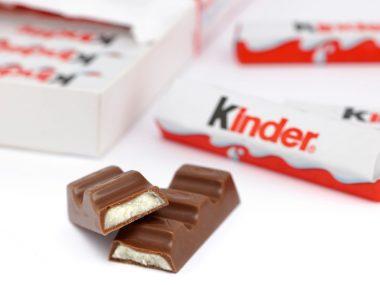 Kinder mini treats chocolate covered cream bars