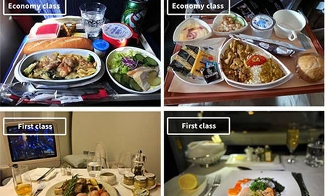 Φαγητό και αεροπορικές εταιρείες: Τι τρώνε οι επιβάτες στην οικονομική θέση και τι στην πρώτη;(PICS)