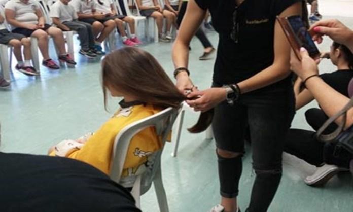 Μαθήτριες του Δημοτικού Καθαρής έκοψαν τα μαλλιά τους για τα παιδιά με καρκίνο
