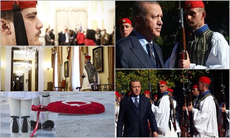 Υπερήφανοι Εύζωνες που εντυπωσίασαν και το… «μισό μάτι» στον Ερντογάν (pics)