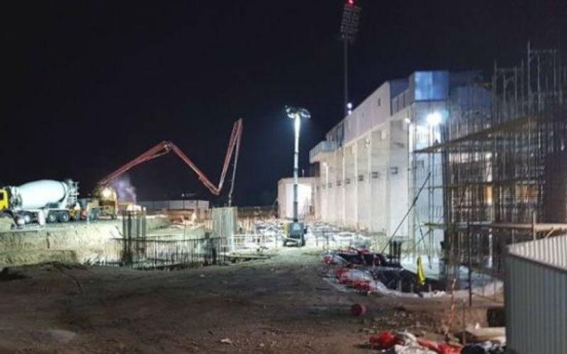 Οι βραδυάτικες εργασίες για τη β΄ φάση του «ΑΕΚ Αρένα» (vid-pics)