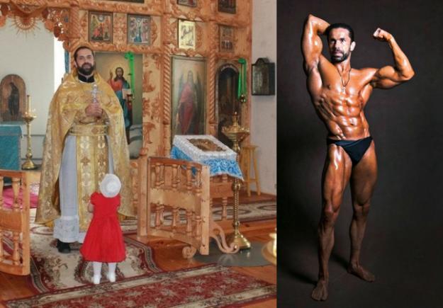 Ο Μάξιμος είναι παπάς και ταυτόχρονα bodybuilder
