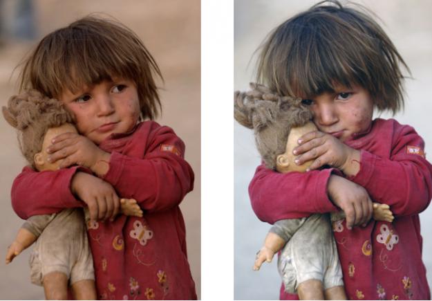 Η αλήθεια πίσω από τη φωτογραφία του κοριτσιού που κλείνει τα μάτια στην κούκλα