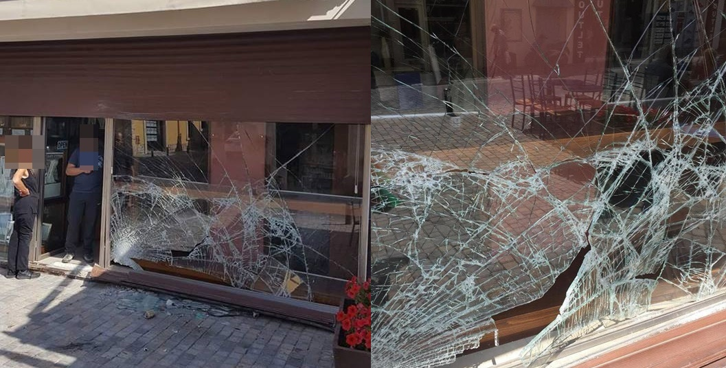 Οδηγός κατέληξε σε βιτρίνα χρυσοχοείου στο Κέντρο της Λάρνακας (pics)