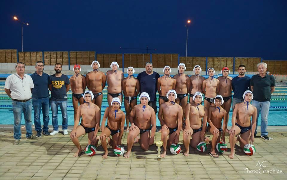 Πρωταθλητές Κύπρου U15 τα ταυράκια της πόλης μας στην Υδατοσφαίριση