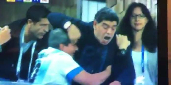 ΒΙΝΤΕΟ: Η ΑΣΕΜΝΗ χειρονομία του Μαραντόνα μετά το γκολ-πρόκριση της Αργεντινής!