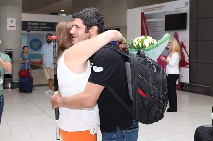 Αεροδρόμιο Λάρνακας : Ο Κοντίδης γύρισε συγκινημένος ,περήφανος ,πανευτυχής