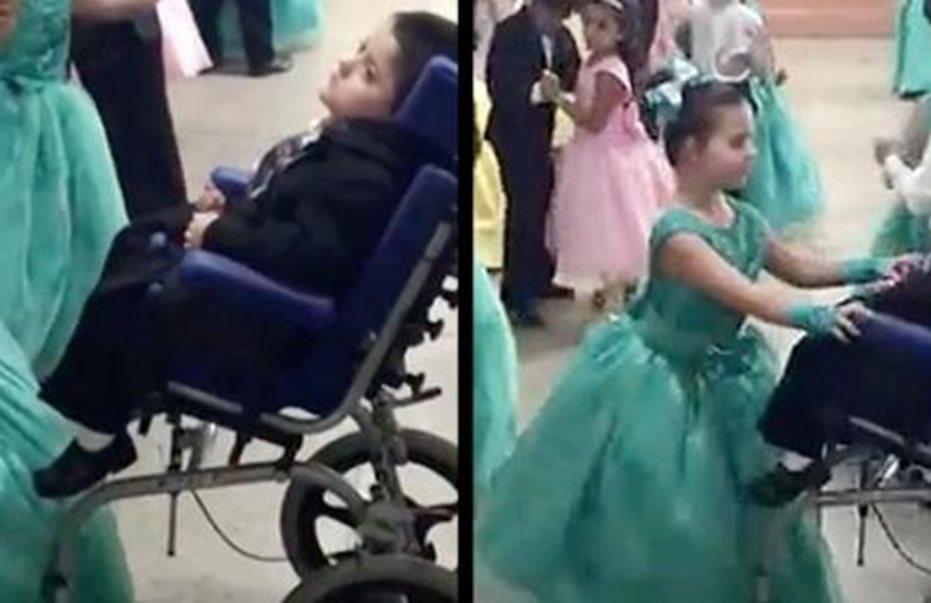 Συγκίνηση: Μαθήτρια χόρεψε με τον παράλυτο αδελφό της και «έριξε το ίντερνετ»
