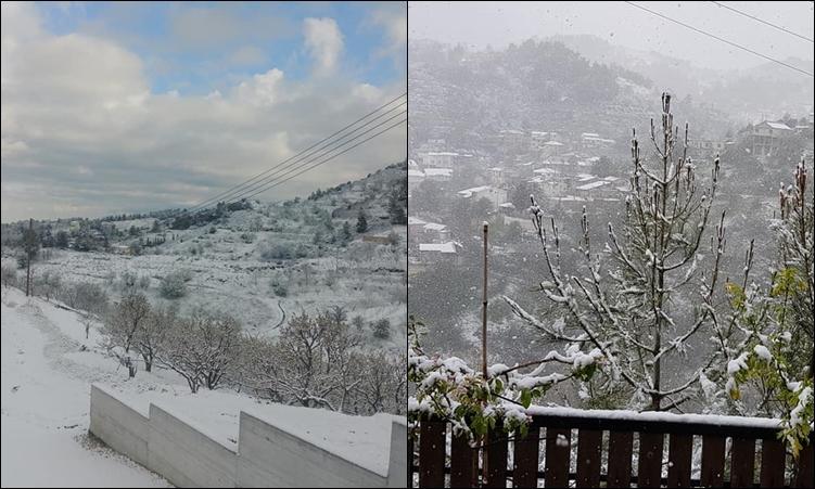 Στα λευκά το Τρόοδος και τα ορεινά χωριά της Κύπρου. Μαγευτικές εικόνες και βίντεο