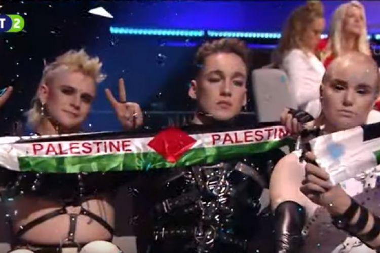 Eurovision: Η Ισλανδία έβγαλε σημαία της Παλαιστίνης στο Τελ Αβίβ