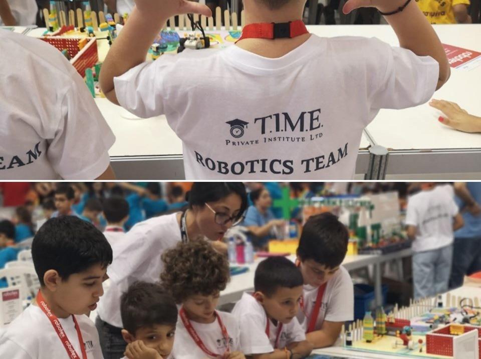 Οι μαθητές του TIME PRIVATE INSTITUTE TEAM στο Robotex Cyprus!