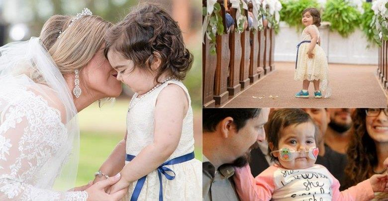 Κοριτσάκι νίκησε τον καρκίνο και έγινε παρανυφάκι στον γάμο της δότριας μυελού των οστών της (pics)