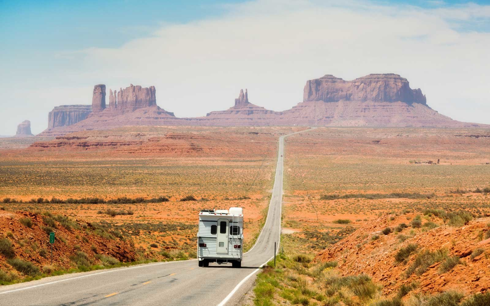 Camper Touring the American Southwest Monument Valley