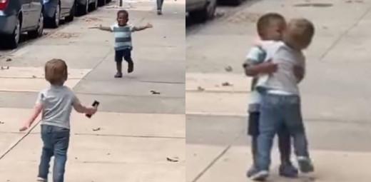 Το πιο τρυφερό viral – «Αγάπη είναι» αυτά τα δυο μικρά παιδιά που τρέχουν να αγκαλιαστούν στη μέση του δρόμου