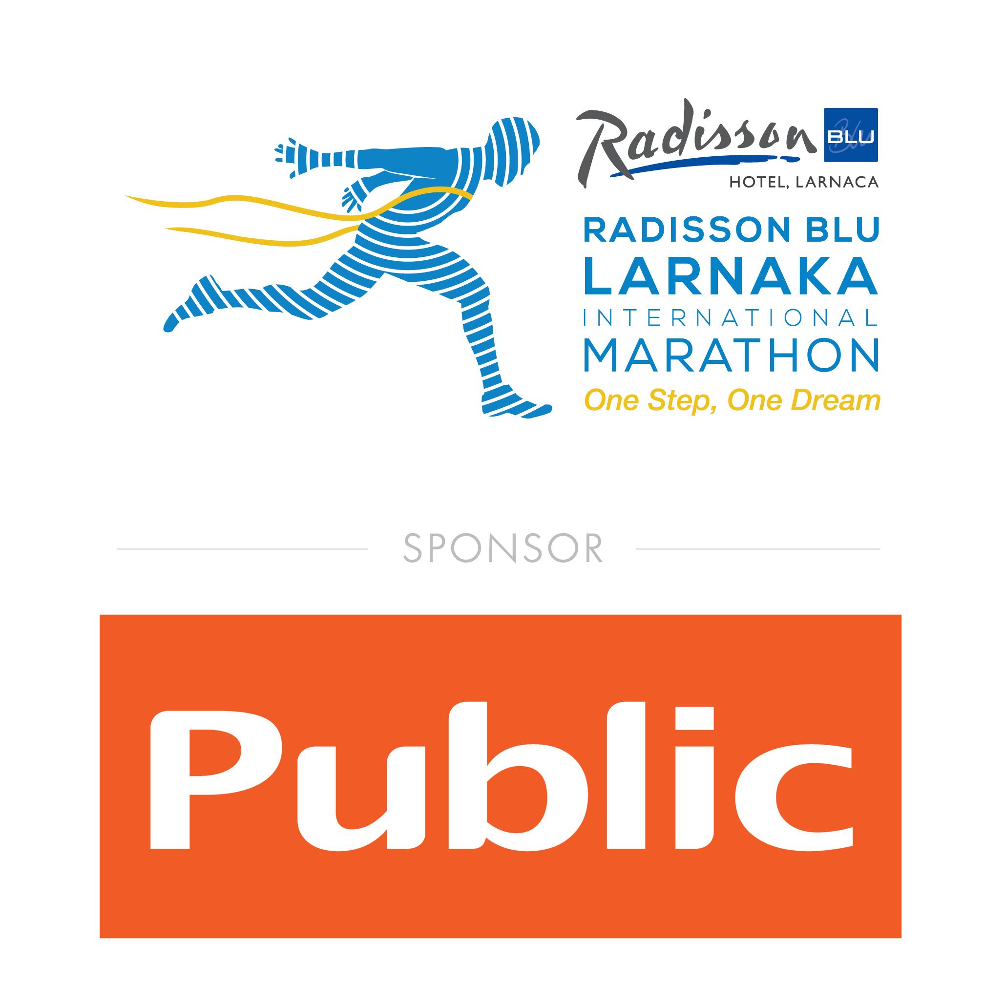 Τα PUBLIC για τρίτη συνεχόμενη χρονιά στο πλευρό του Radisson Blu Διεθνούς Μαραθωνίου Λάρνακας