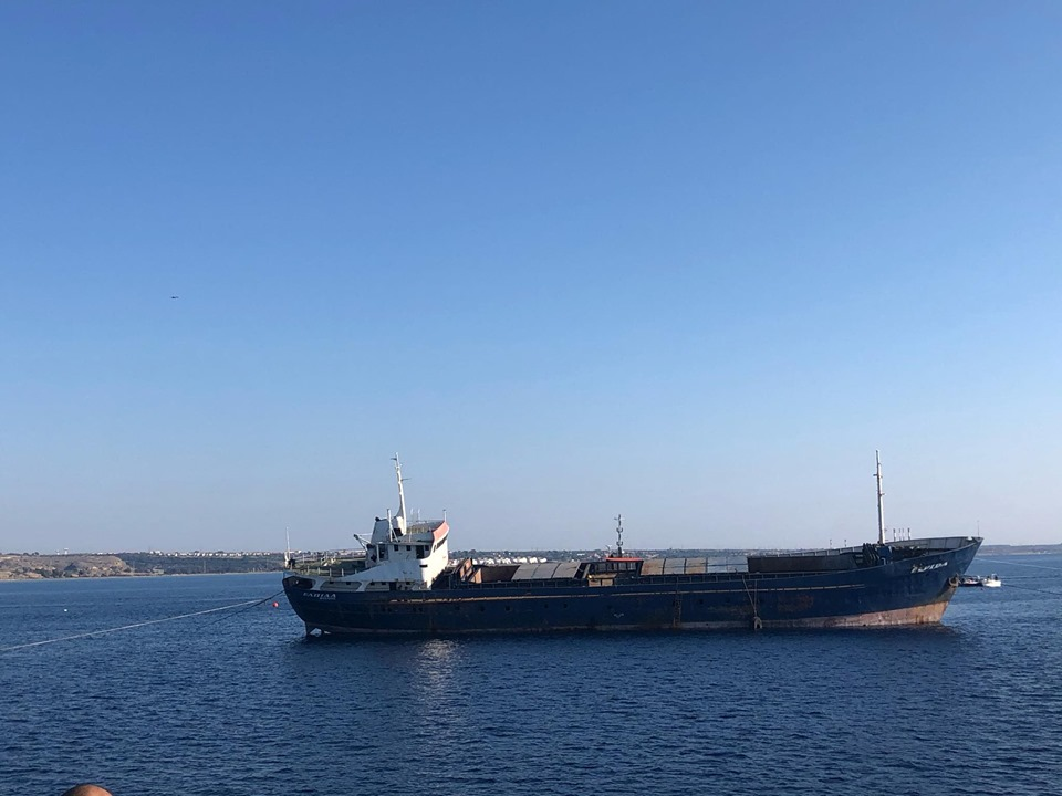 ΤΩΡΑ : Πόντιση του πλοίου Ελπίδα στην Λάρνακα (ΒΙΝΤΕΟ)