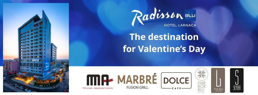 Το Radisson Blu Hotel, Larnaca προορισμός τη μέρα του Αγίου Βαλεντίνου