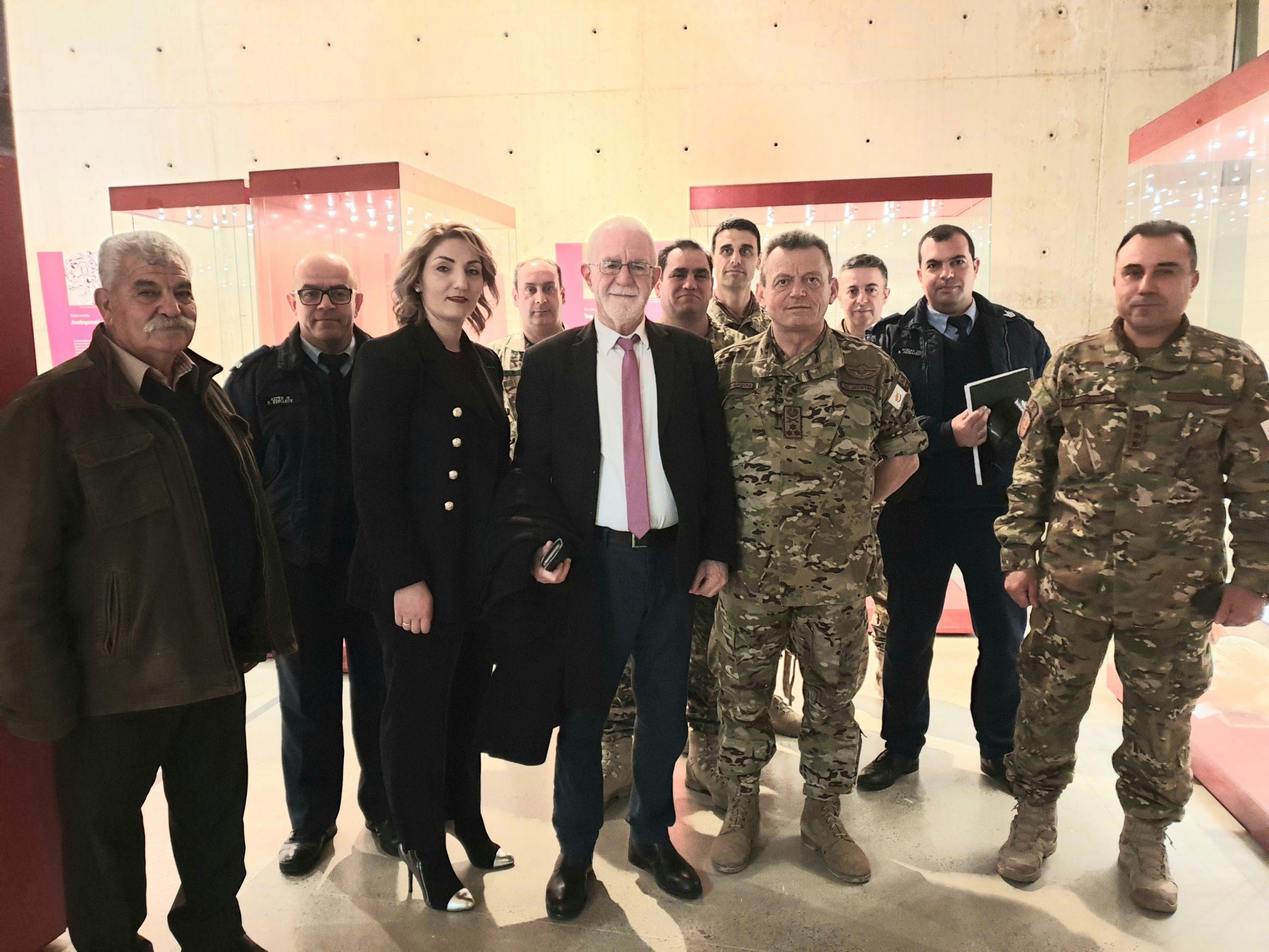 Επίσκεψη του Αρχηγού της Εθνικής Φρουράς κ. Ηλία Λεοντάρη στον Δήμο Αθηένου.