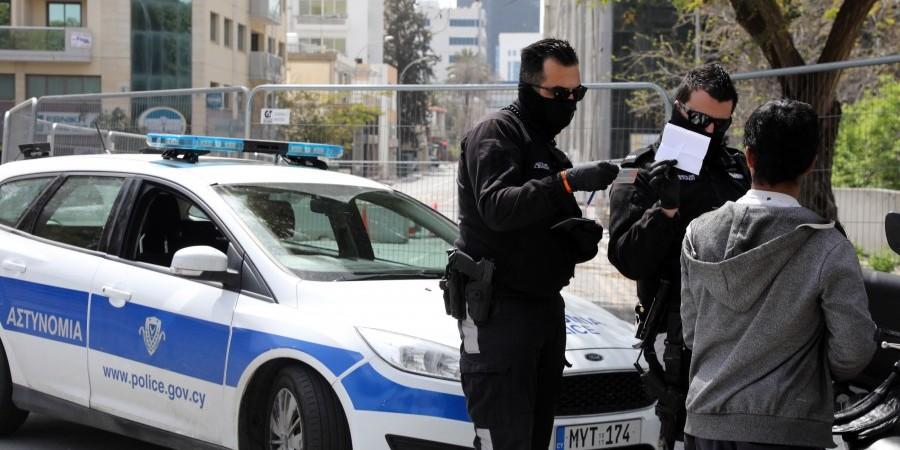 Στις 123 οι καταγγελίες της Αστυνομίας σε ένα 24ωρο για παραβίαση διατάγματος
