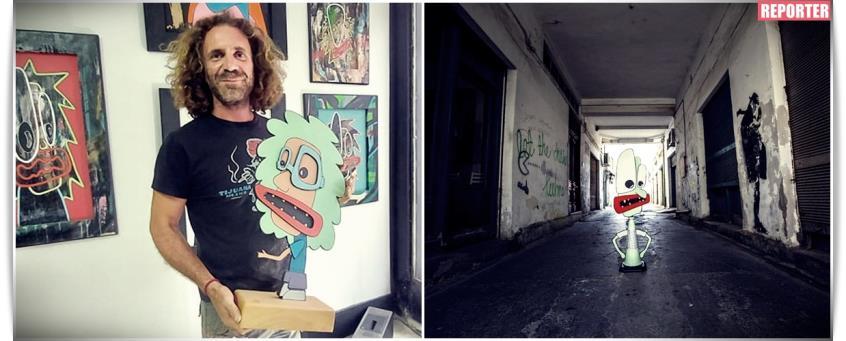Η ιστορία επιμονής του Συμπολίτη μας ζωγράφου Γεωργιάδη που έκανε τέχνη τα καρτούν