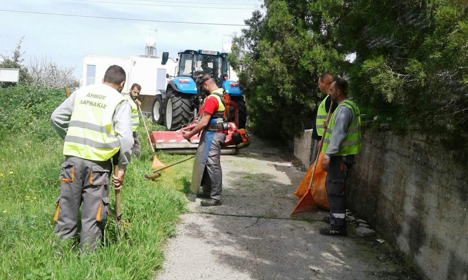 Συνεχίζονται οι εργασίες του Τμήματος Καθαριότητας του Δήμου Λάρνακας