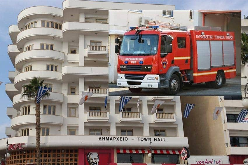 Μικρή φωτιά ξέσπασε στην ταράτσα του Δημαρχείου Λάρνακας