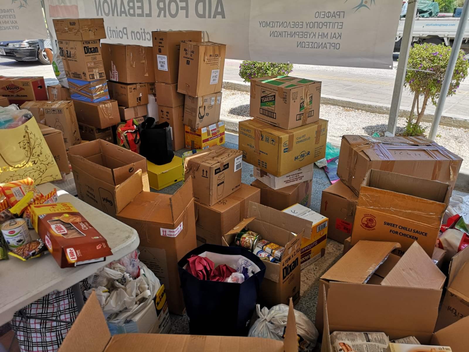 Ο Δήμος Αθηένου άρχισε την εκστρατεία συλλογής τροφίμων για τους πληγέντες του Λιβάνου