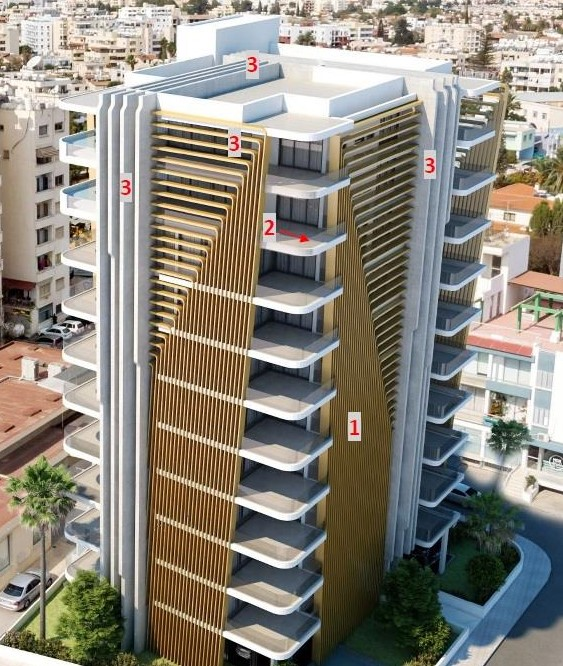 Το νέο πολυώροφο κτήριο της Λάρνακας στην ενορία Χρυσοπολίτισσας