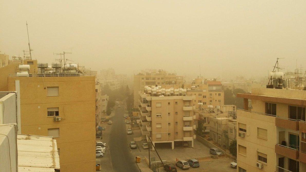 Σκόνη στην ατμόσφαιρα – Ενδεχόμενο βροχόπτωσης