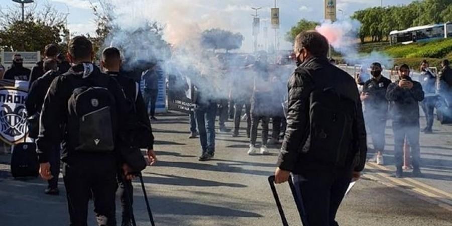ΛΑΡΝΑΚΑ:Αναζητούν τους οπαδούς του ΠΑΟΚ που πήγαν στο αεροδρόμιο–Υλικό στα χέρια της Αστυνομίας