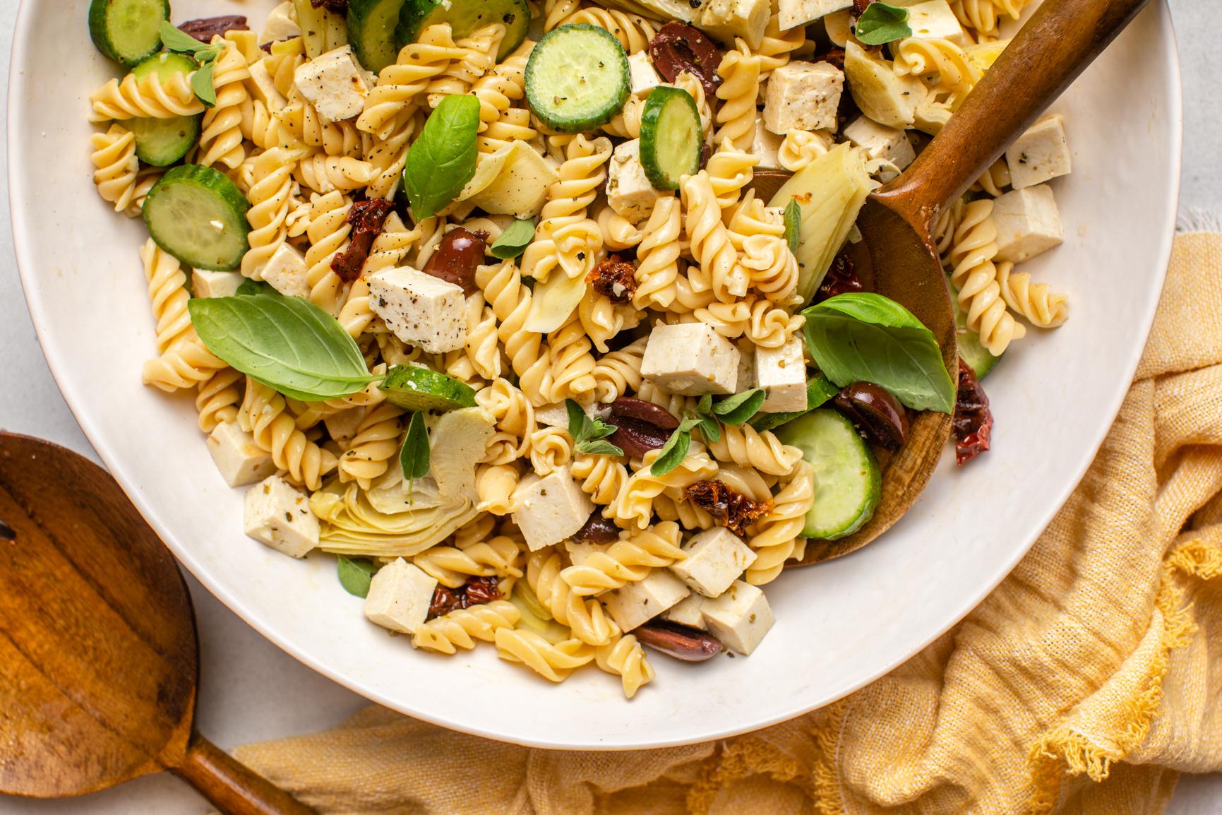 Vegan_Mediterranean_Pasta_Salad_FromMyBowl-8
