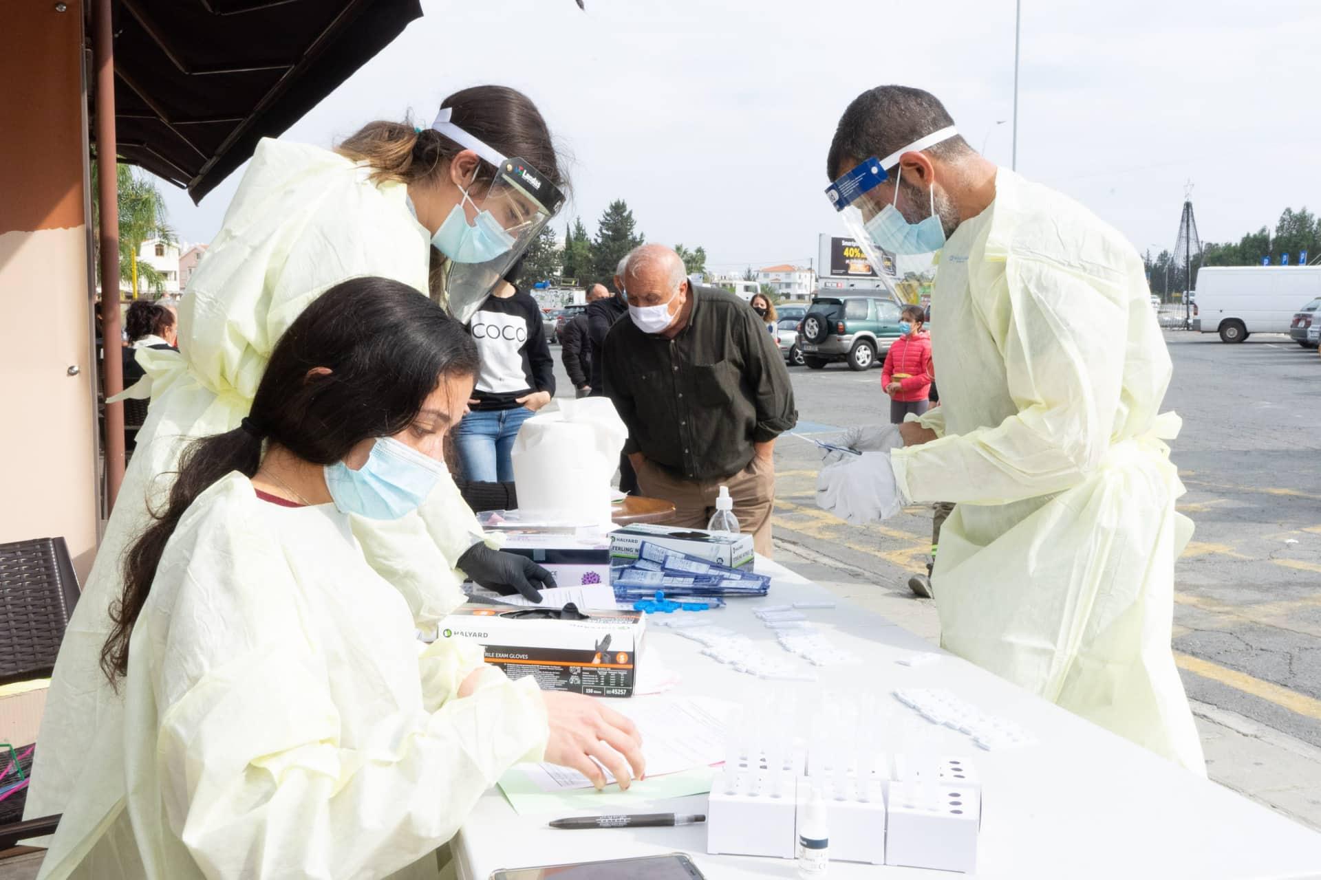 Οκτώ σημεία για rapid tests την Πέμπτη στη Λάρνακα, τρία στην Αμμόχωστο