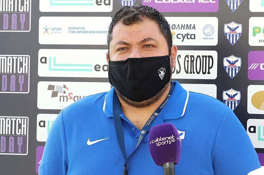 Χριστοφόρου: «Είμαστε ομάδα νικητών, αυτό θα κάνουμε με ΑΠΟΕΛ»