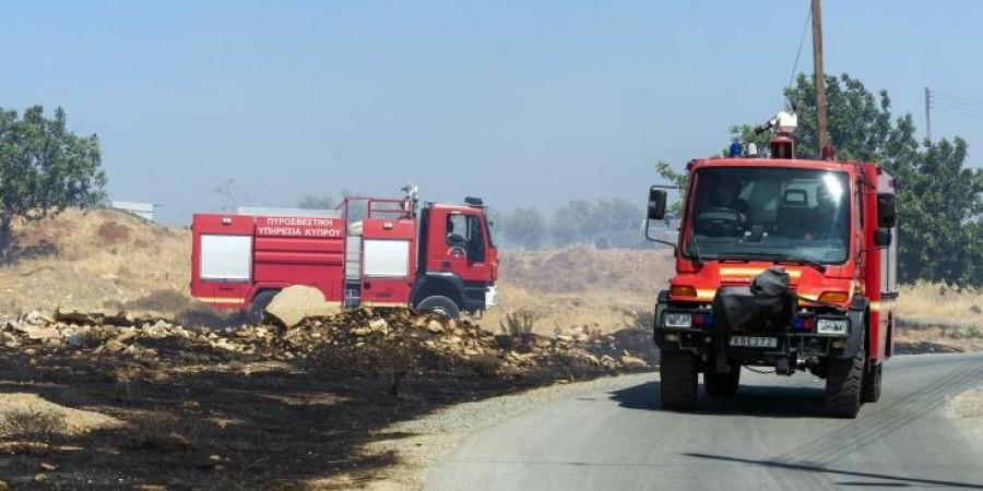 Υπό πλήρη έλεγχο δασική πυρκαγιά στα Κλαυδιά στην επαρχία Λάρνακας