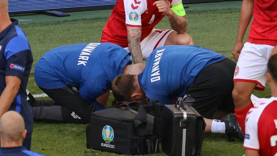 Euro 2020: O Έρικσεν δίνει μάχη για τη ζωή του – Διεκόπη το παιχνίδι Δανία-Φινλανδία