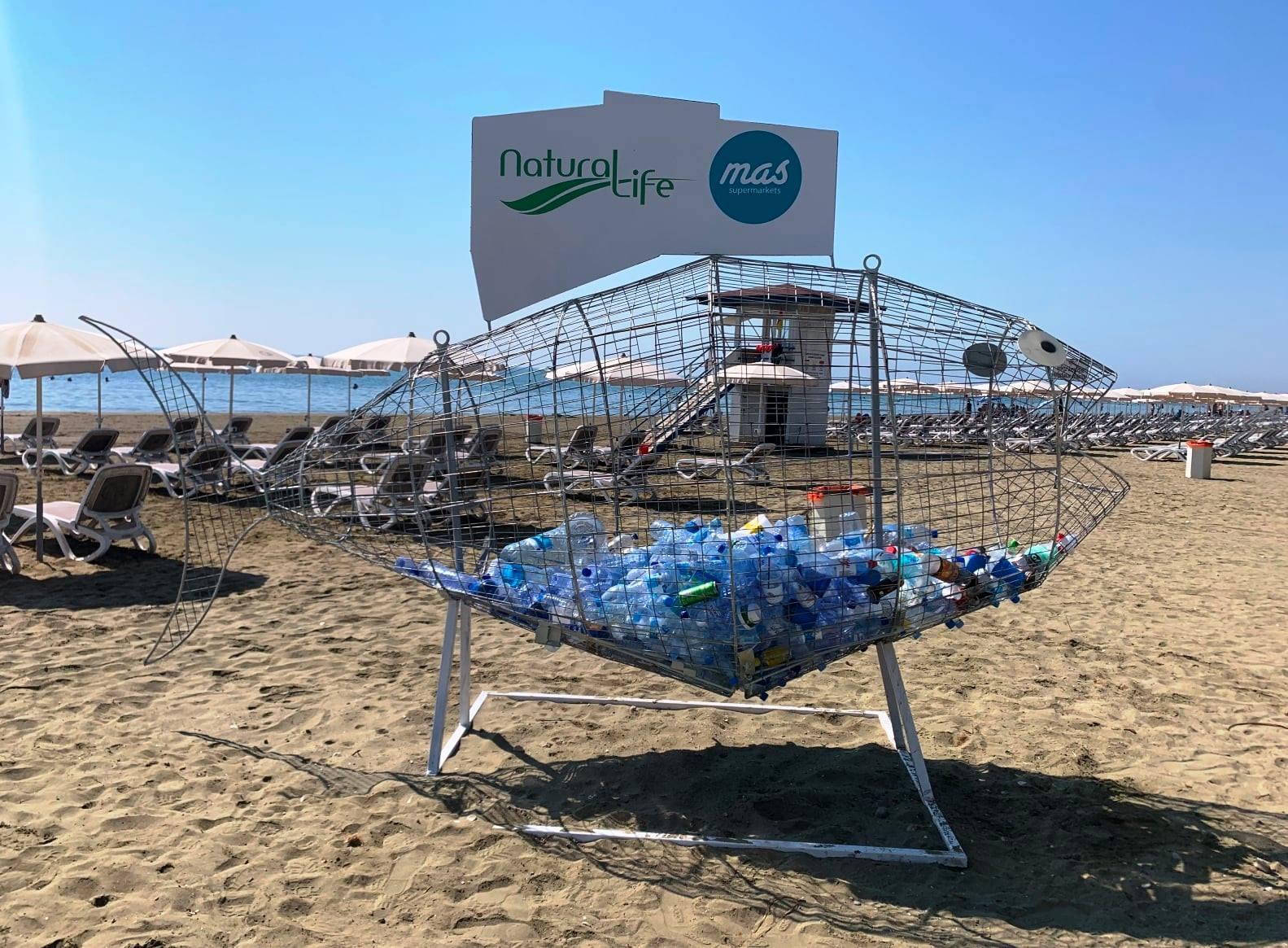 Μεταλλικό ανακυκλώψαρο τοποθετήθηκε στην παραλία Μακένζι στη Λάρνακα
