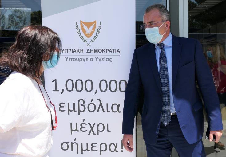 Ξεπέρασαν το 1 εκ. οι εμβολιασμοί στην Κύπρο