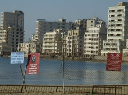 A view of the ghost town of Famagusta is seen in northern Cyprus