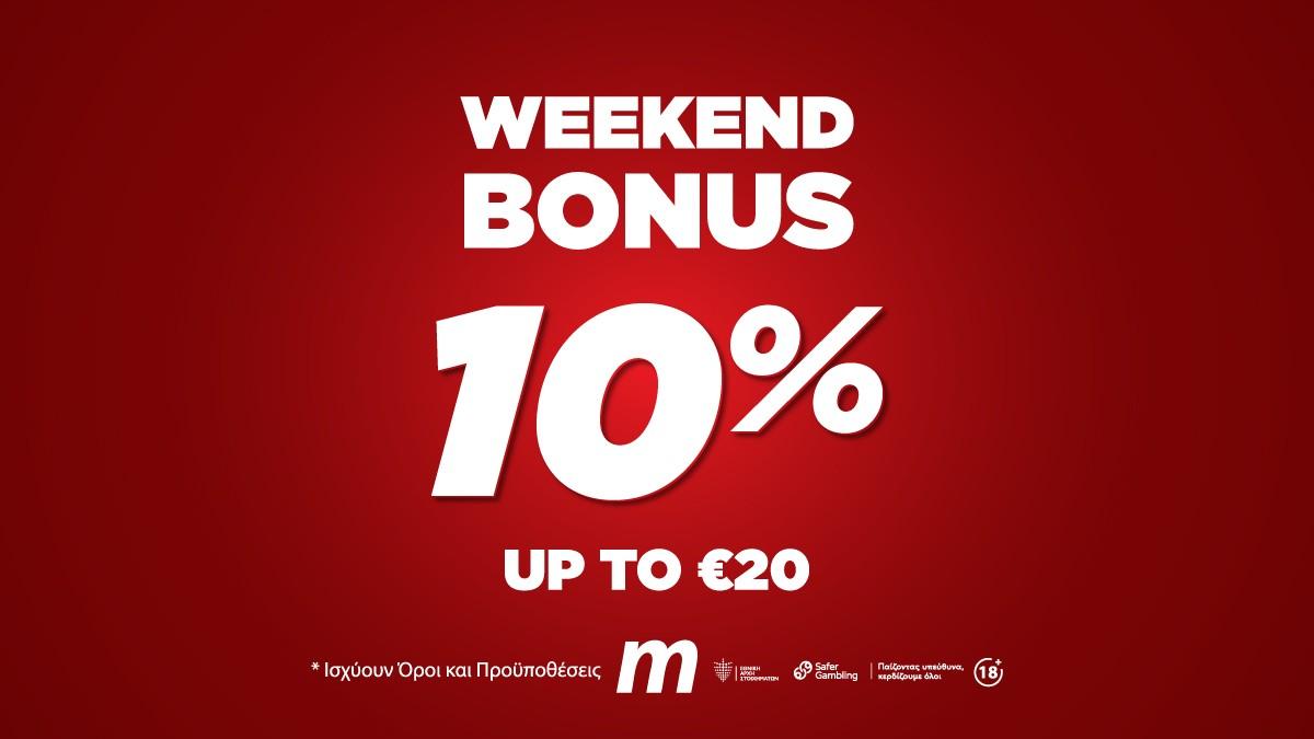 Meridianbet 10% Weekend Bonus