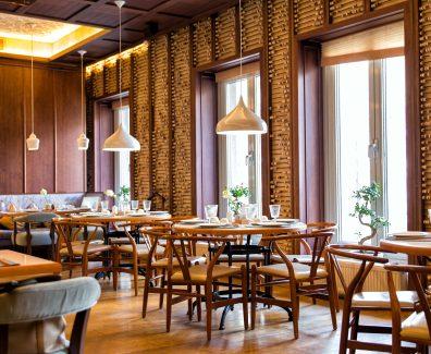 Interior of the Chinese restaurant